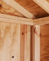 Pine Creek Structures storage sheds features and benefits - double studded top wall plates and interlocking corners